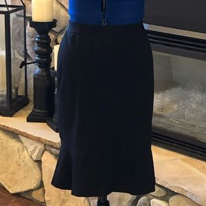 Ann Taylor Black Pencil Skirt with Flare to bottom